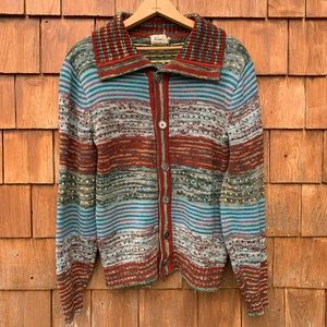 Vintage 1970's Hippy Boho Cardigan Sweater
